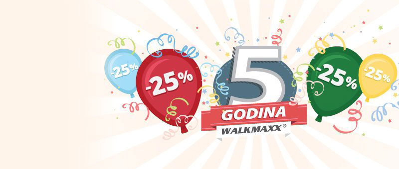 Slavimo 5. rođendan uz 25% popusta na sve